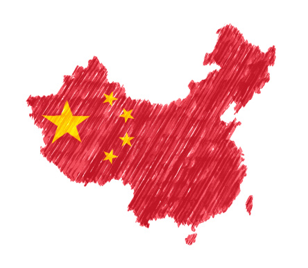 Chalk - Art Equipment「Map of China with Brush Stroke isolated on white background」:スマホ壁紙(6)