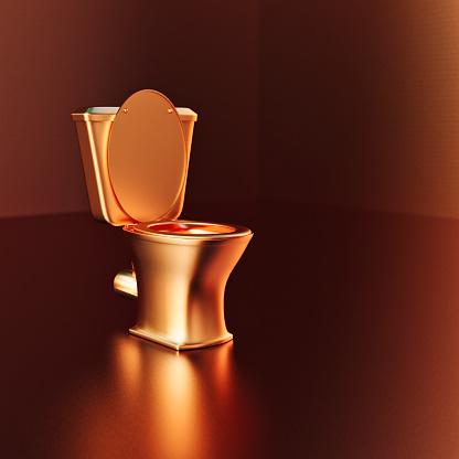 Spending Money「Gold toilet with golden background」:スマホ壁紙(10)