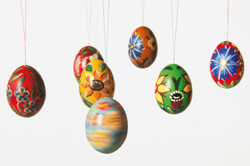 イースター「Painted easter eggs」:スマホ壁紙(1)