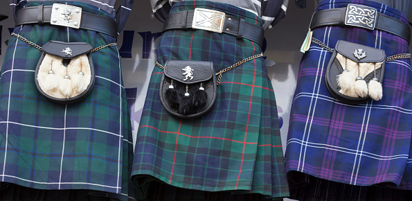 Tartan check「Scottish tartan kilts and sporrans, Edinburgh」:スマホ壁紙(0)