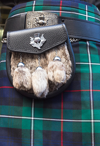 Tartan check「Scottish tartan kilt and sporran, Edinburgh」:スマホ壁紙(2)