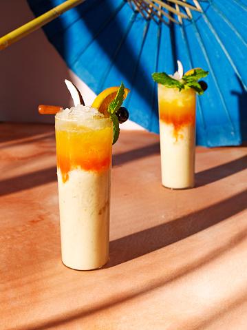 Liquor「Colorful frozen rum tiki cocktails」:スマホ壁紙(7)