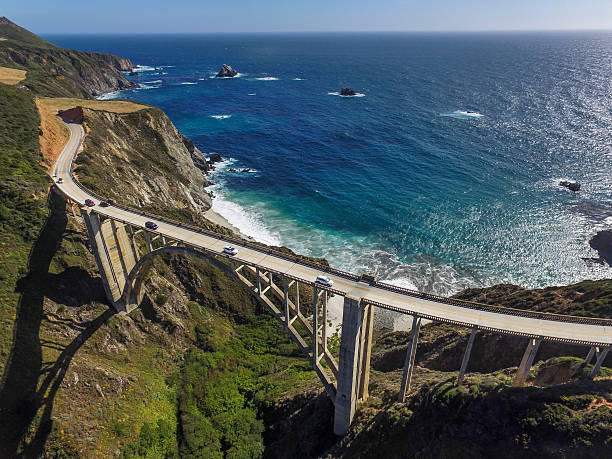 The famed Bixy Bridge in Big Sur.:スマホ壁紙(壁紙.com)