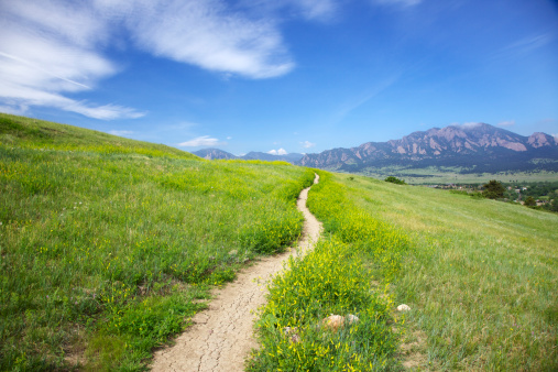 Footpath「Trail to the Flatirons in Boulder Colorado」:スマホ壁紙(8)