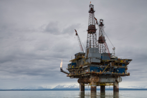 Oil Industry「Offshore Oil Rig, Cook Inlet, Alaska」:スマホ壁紙(15)