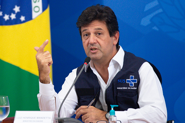 Brasilia「Brazilian Health Minister Luiz Henrique Mandetta Holds a Press Conference to Give Updates on the Coronavirus (COVID-19) Pandemic」:写真・画像(9)[壁紙.com]