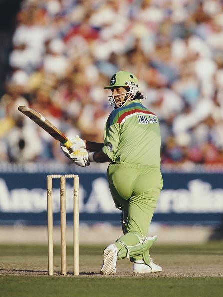 Pakistan「Imran Khan Pakistan v England 1992 Cricket World Cup Final Melbourne」:写真・画像(9)[壁紙.com]