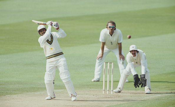 Hitting「Javed Miandad 1st Test Match England v Pakistan 1992」:写真・画像(10)[壁紙.com]
