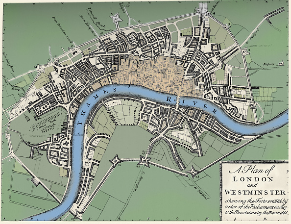 Stuart - Florida「Plan Of London And Westminster 1749 (1903)」:写真・画像(8)[壁紙.com]