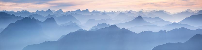 European Alps「lechtal panorama from mt. zugspitze - germany」:スマホ壁紙(8)