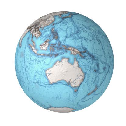 Southeast Asia「Globe Showing Australia, Indonesia and Oceania」:スマホ壁紙(19)