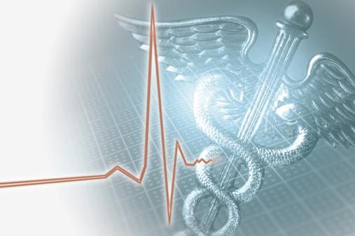 Insurance「Medical caduceus symbol and EKG」:スマホ壁紙(3)