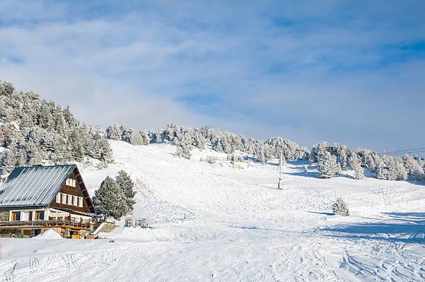 Winter Landscape with Skilift:スマホ壁紙(壁紙.com)