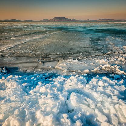 Lake Balaton「Winter landscape at Balaton sea, Hungary」:スマホ壁紙(16)