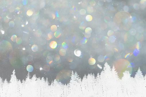 雪の結晶「Winter landscape through a sleet smeared window」:スマホ壁紙(9)