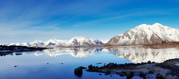 ノルウェー「冬には冬の風景、Lofoten ,Norway」:スマホ壁紙(12)