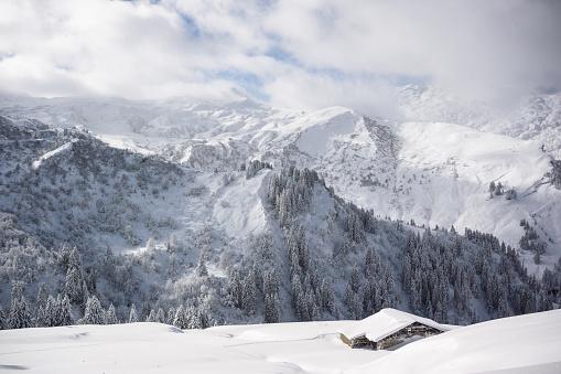雪景色「冬の風景 」:スマホ壁紙(8)