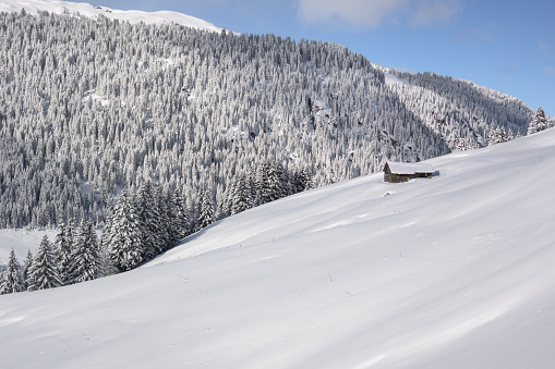 雪景色「冬の風景 」:スマホ壁紙(2)