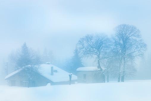吹雪「冬の風景」:スマホ壁紙(19)