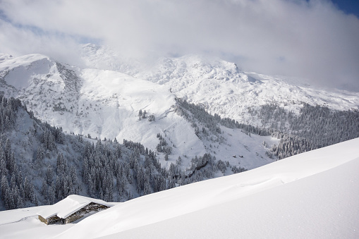 スキー「冬の風景 」:スマホ壁紙(3)