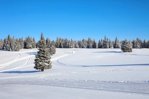 雪山「冬の風景」:スマホ壁紙(15)