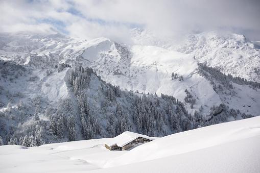 雪景色「冬の風景 」:スマホ壁紙(6)