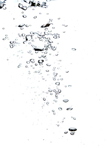 Splashing「Bubbles in a diagonal shape on a white background」:スマホ壁紙(12)