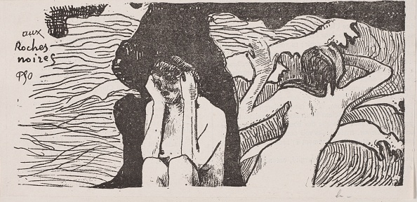Lithograph「The Black Rocks. Creator: Paul Gauguin (French」:写真・画像(13)[壁紙.com]