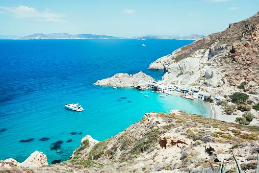Aegean Sea「Greece, Milos, Firopotamos Beach」:スマホ壁紙(9)