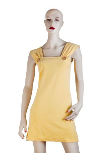 Mini Dress「Yellow Bathrobe Short Model」:スマホ壁紙(3)