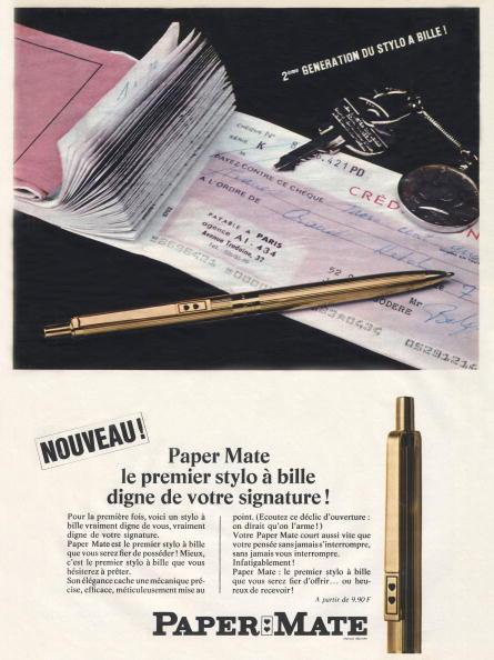 Pen「Advertising for a ballpoint pen Paper Mate December 1966」:写真・画像(19)[壁紙.com]