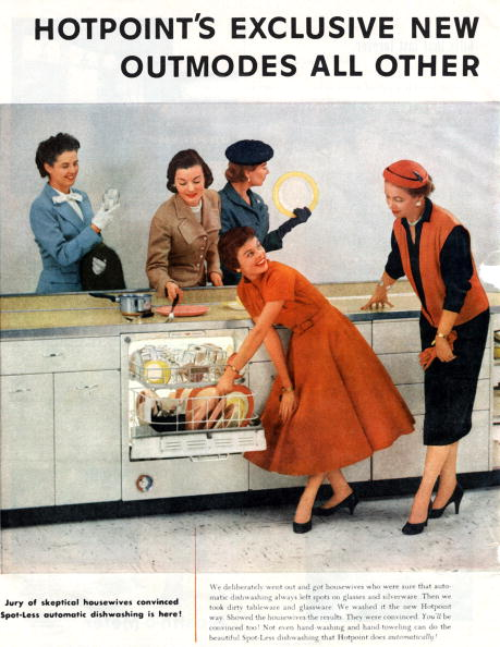 1950-1959「advertising for Hotpoint washing machine, published in american magazine april 1956」:写真・画像(5)[壁紙.com]