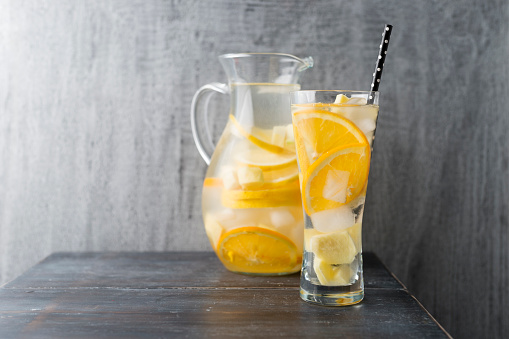 Orange - Fruit「Water with lemon, orange and ginger, ice cubes, flavoured」:スマホ壁紙(16)