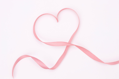 ハート「Ribbon making heart shape」:スマホ壁紙(10)