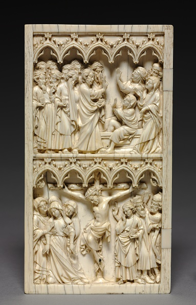 Circa 14th Century「Diptych With Scenes From The Life Of Christ (Left Wing: Raising Of Lazarus And Crucifixion)」:写真・画像(0)[壁紙.com]