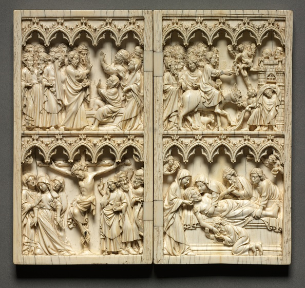 Circa 14th Century「Diptych With Scenes From The Life Of Christ (Left Wing: Raising Of Lazarus And Crucifixion)?」:写真・画像(10)[壁紙.com]