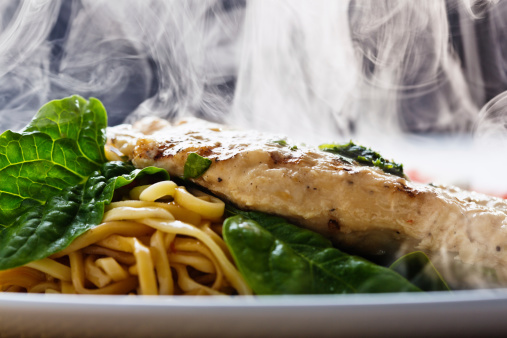 Spinach「Steaming seared chicken breast with pesto, noodles and spinach」:スマホ壁紙(19)