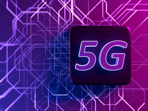 CPU「5G Digital network communication internet technology」:スマホ壁紙(11)