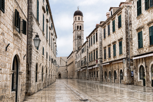 Old Town「The main street located in the town of Dubrovnik, Croatia 」:スマホ壁紙(11)