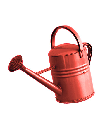 Watering Can「Red Watering Can on a white background」:スマホ壁紙(11)