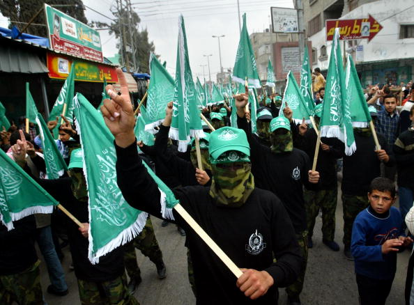 Hamas「Palestinians Hold Rally To Mark 16th Anniversary Of Hamas」:写真・画像(4)[壁紙.com]