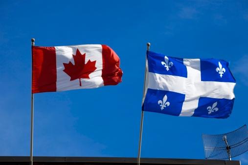 Fleur De Lys「Quebec and Canada flags」:スマホ壁紙(15)