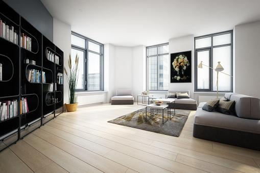Parquet Floor「Modern Home Interior」:スマホ壁紙(8)