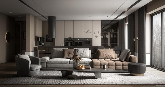Kitchen「Modern Home Interior」:スマホ壁紙(9)