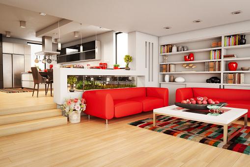 Red「Modern Home Interior」:スマホ壁紙(12)