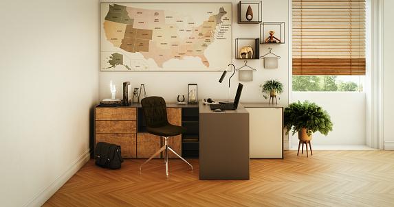 Parquet Floor「Modern Home Office」:スマホ壁紙(7)