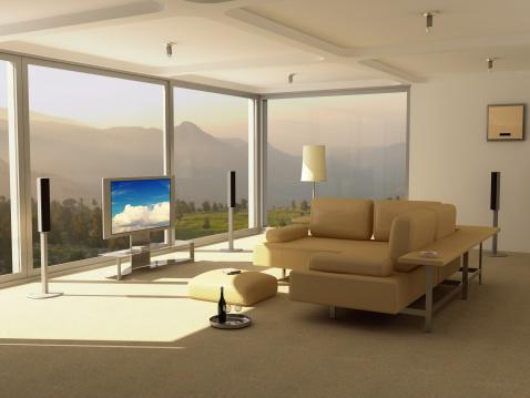 Audio Equipment「Modern Home Interior - Entertainment Center」:スマホ壁紙(2)