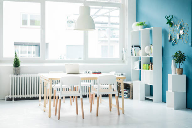 Modern homeoffice in a loft:スマホ壁紙(壁紙.com)