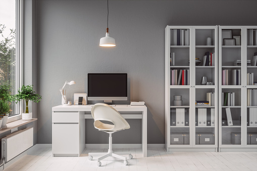 Small Office「Modern Home Office Interior」:スマホ壁紙(5)