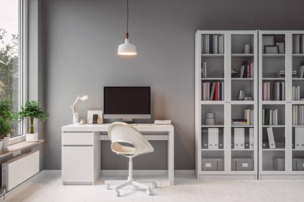 Modern Home Office Interior:スマホ壁紙(壁紙.com)